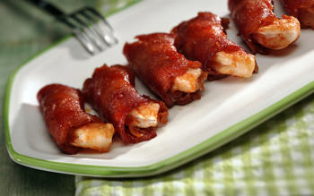 Bacon-bundled BBQ shrimp