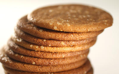 Molasses cookie ice cream sandwiches
