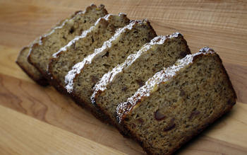Banana poppy seed loaf