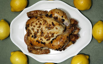 Roast chicken with preserved lemon