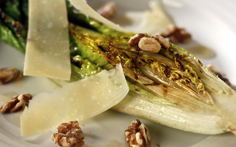 ... with walnuts, Parmesan and anchovy dressing - California Cookbook