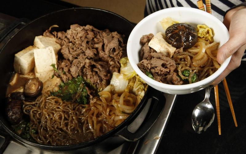 Tokyo-style beef sukiyaki