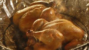 Tea-smoked game hens