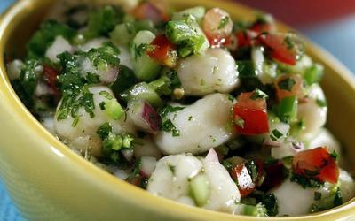 Baja baby scallops ceviche