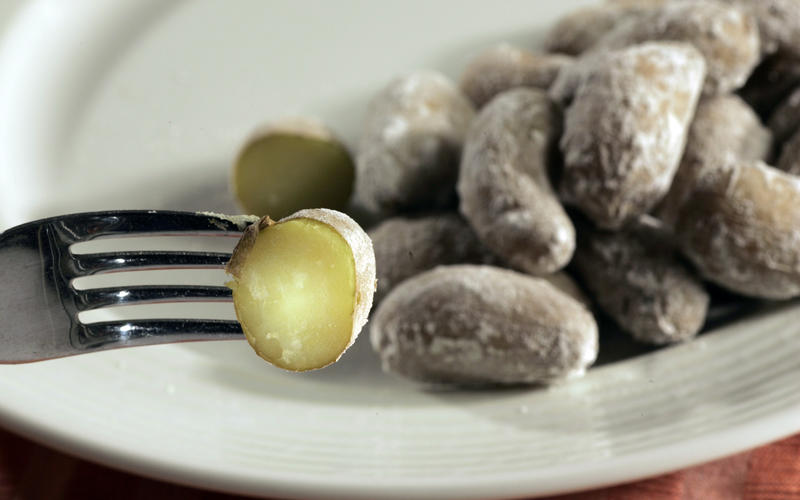 Wrinkly potatoes (papas arrugadas)