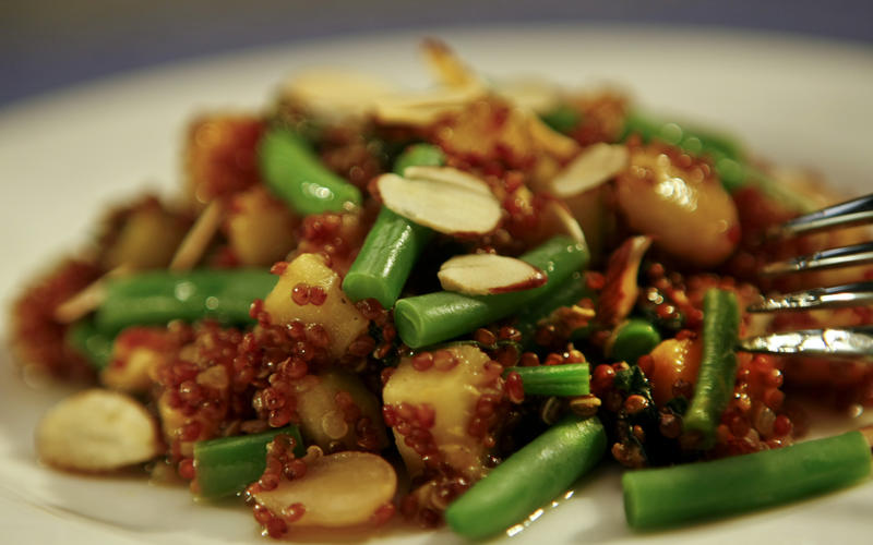 Warm quinoa salad