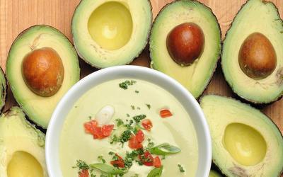 Gazpacho with avocado
