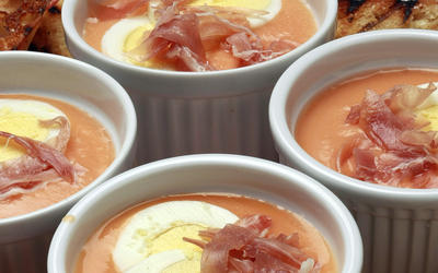 Gazpacho cream, Cordoba-style (Salmorejo Cordobes)