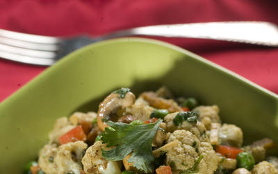 M Cafe de Chaya's curried cauliflower salad