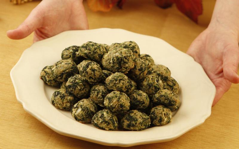 Recipe: Johnny's spinach balls - California Cookbook