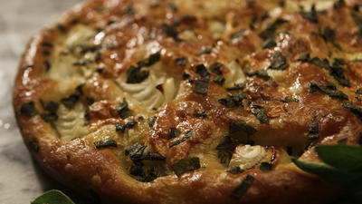 Onion and sage focaccia