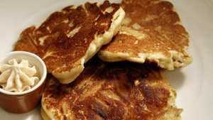 Chunky apple pancakes