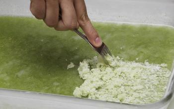 Cucumber chile granita