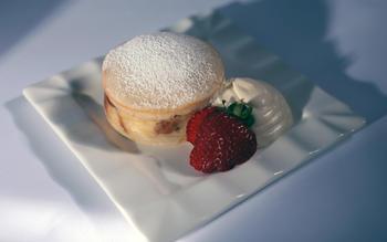 La Boulange's croissant bread pudding