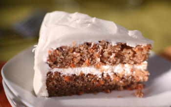 Charm City carrot cake with Duff's cream cheese icing