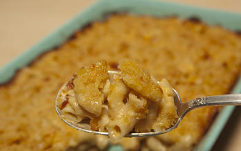 Mac 'n' cheese with soubise