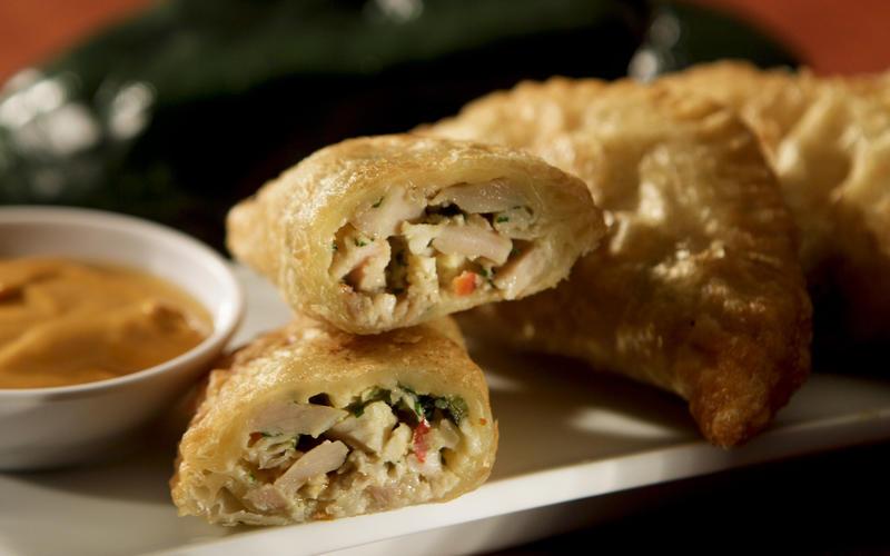 Zengo's Thai chicken empanadas