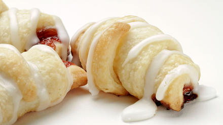 Ronnie's raspberry crescents