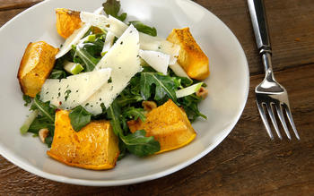 Roasted acorn squash and apple salad