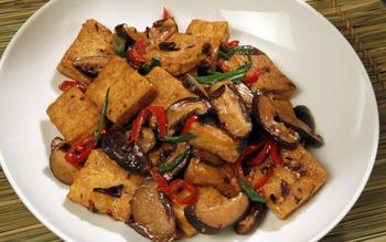 Vegetarian Hunan-style tofu