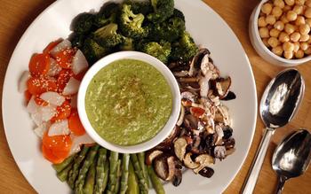 Vegan vegetable and sesame feast