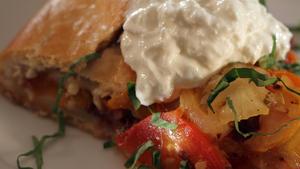 Savory tomato galette
