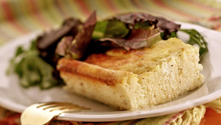 Nopa's goat cheese bread pudding