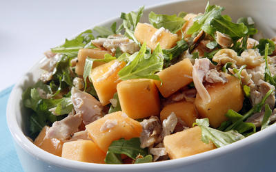 Smoked chicken and cantaloupe salad