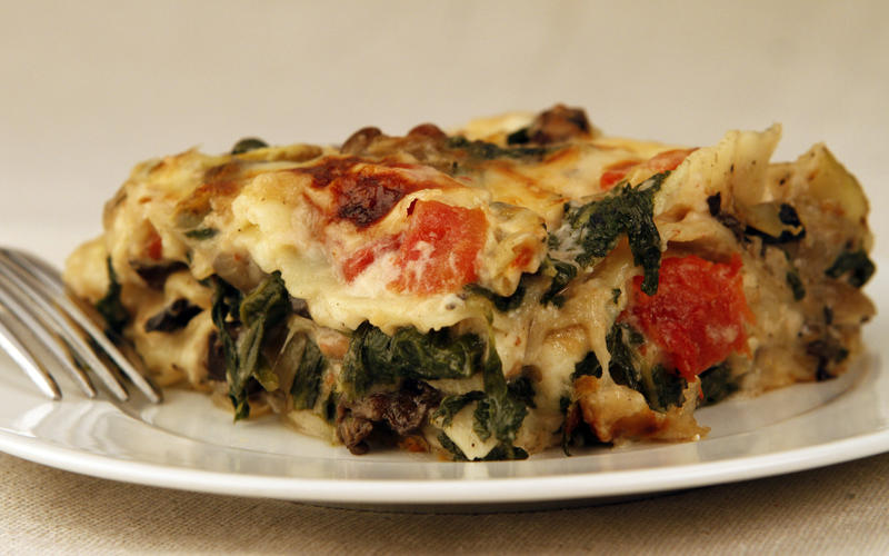 Cafe Roka's artichoke and portobello mushroom lasagna