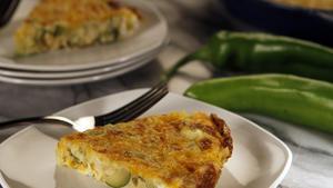 Green chile, corn and zucchini frittata