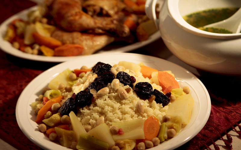 Couscous with seven blessed vegetables