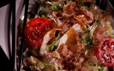 Japanese Tofu Salad With Bonito Flakes and Miso Dressing