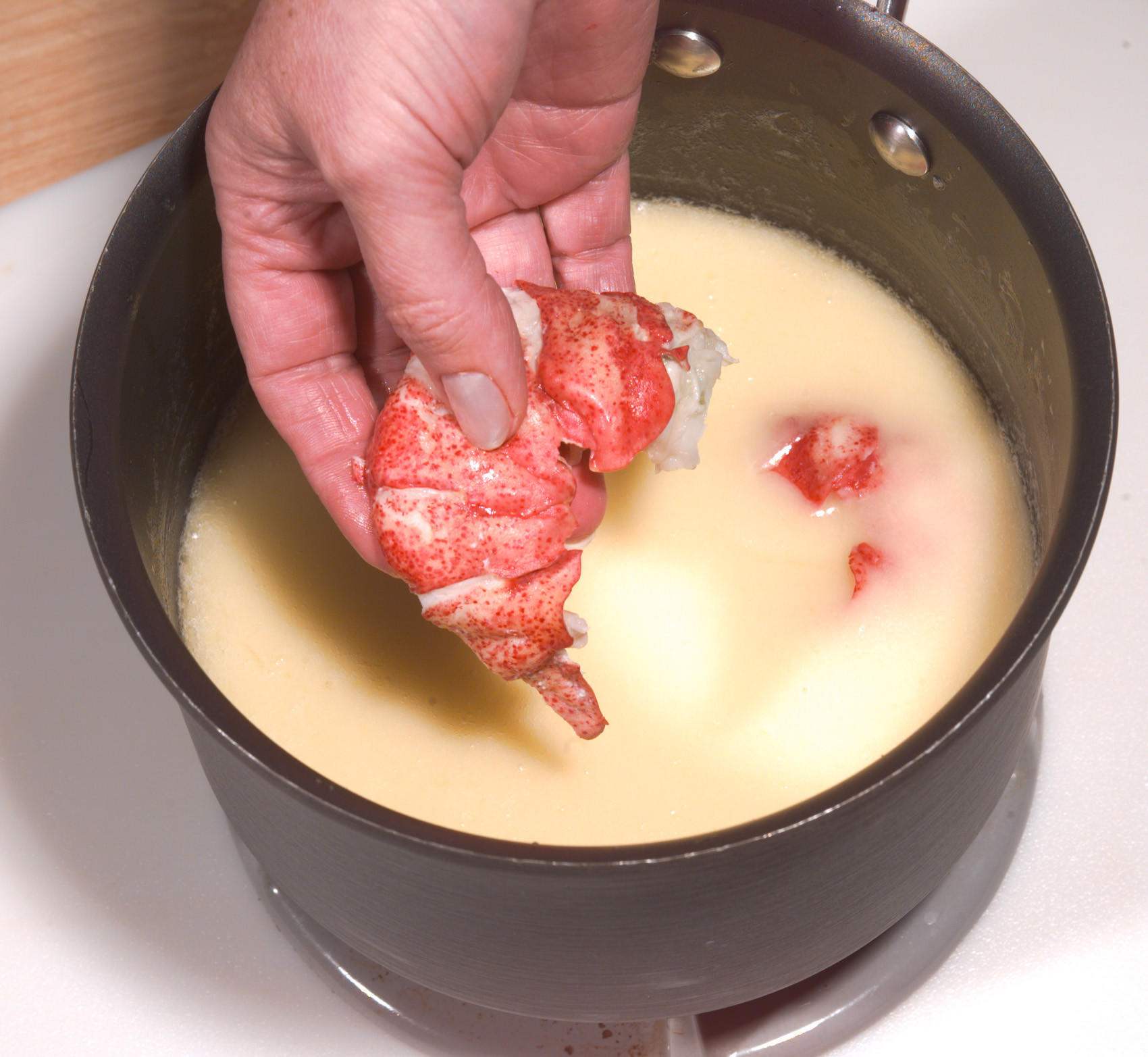 Recipe: Butter-Poached Lobster Tail With Sauce Fines Herbes - California Cookbook