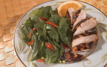 Orange-Sesame Glazed Barbecue Chicken