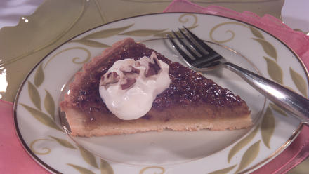 Pumpkin Tart With Pecan Topping