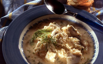Avgolemono Soup With Cod