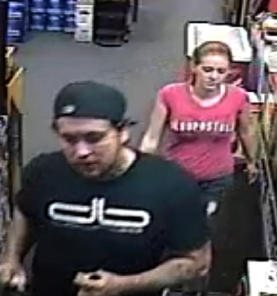 he Washington County Sheriff's Office said it was asking for the public's assistance to find two people who were captured on video surveillance using credit cards that were reported stolen from a wallet on July 24.