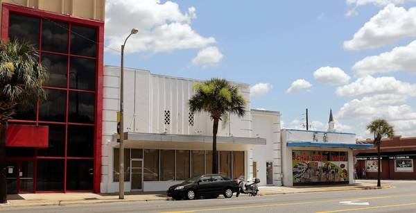 The former home of the Cameo Theatre, center, is near downtown Orlando.