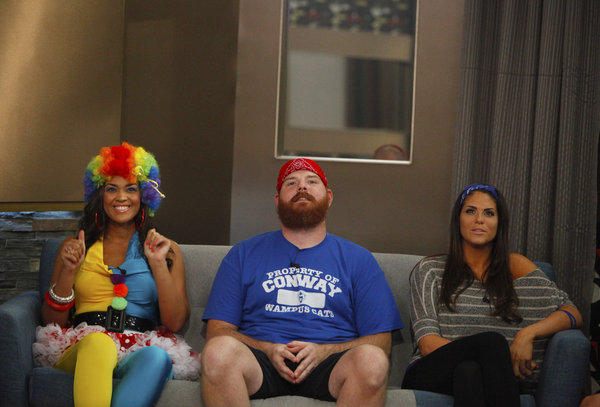 """Big Brother"" houseguests Candice, Spencer and Amanda."