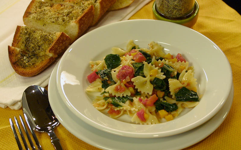 Farfalle With Swiss Chard