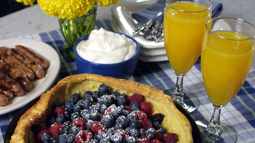 Dutch Baby with assorted berries