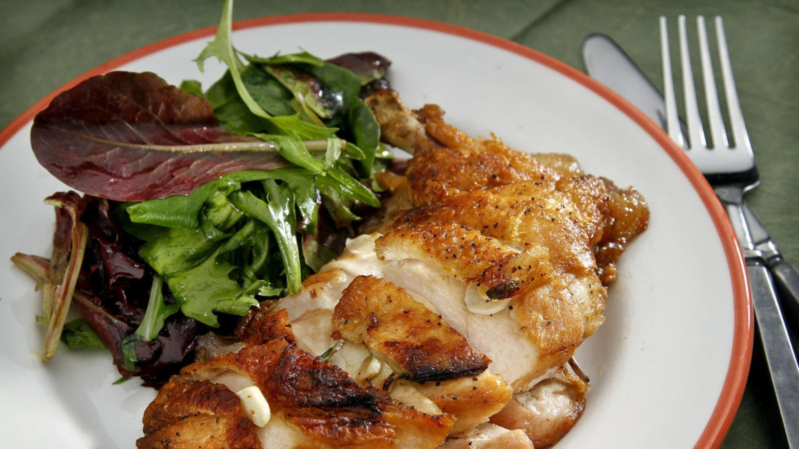 how to cook a flattened chicken breast