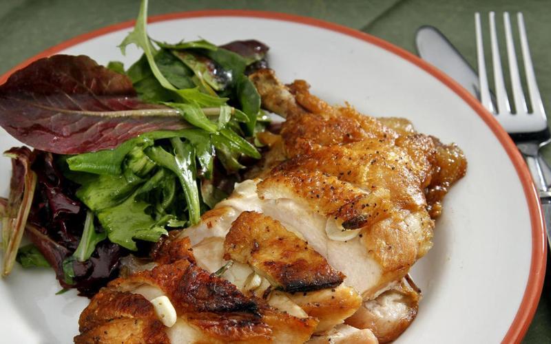 Campanile's crispy flattened chicken