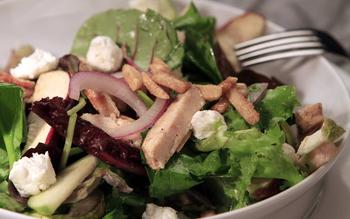 Nordstrom's chicken, apple and goat cheese salad