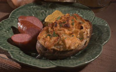 St. Paddy's twice-baked potatoes