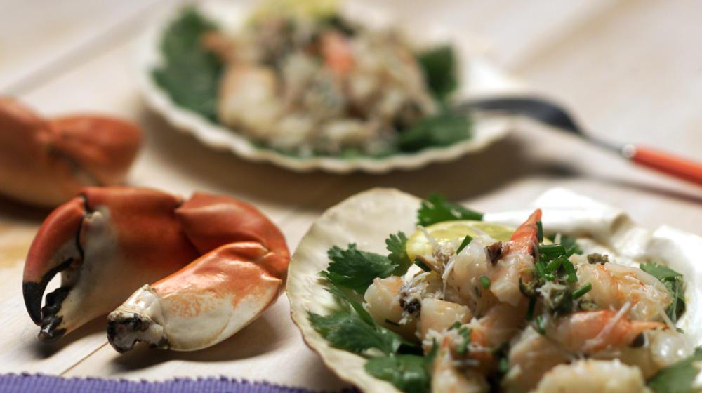 Shrimp and Stone Crab Salad