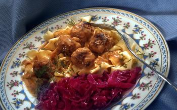 Swedish meatballs With gravy and lingonberry preserves