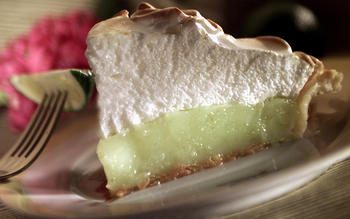 Spring lime meringue pie