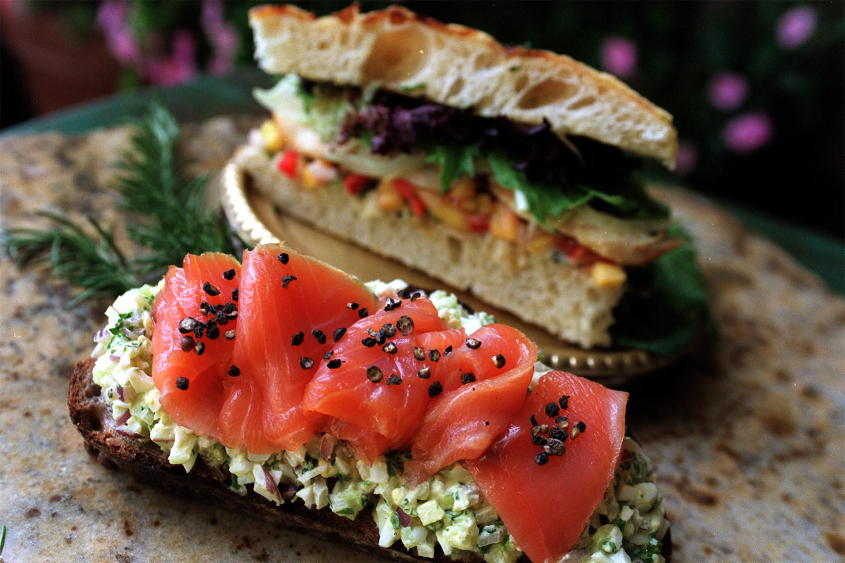 Recipe Open Face Smoked Salmon And Egg Salad Sandwiches