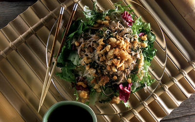Crunchy Tempura and Soba Noodle Salad